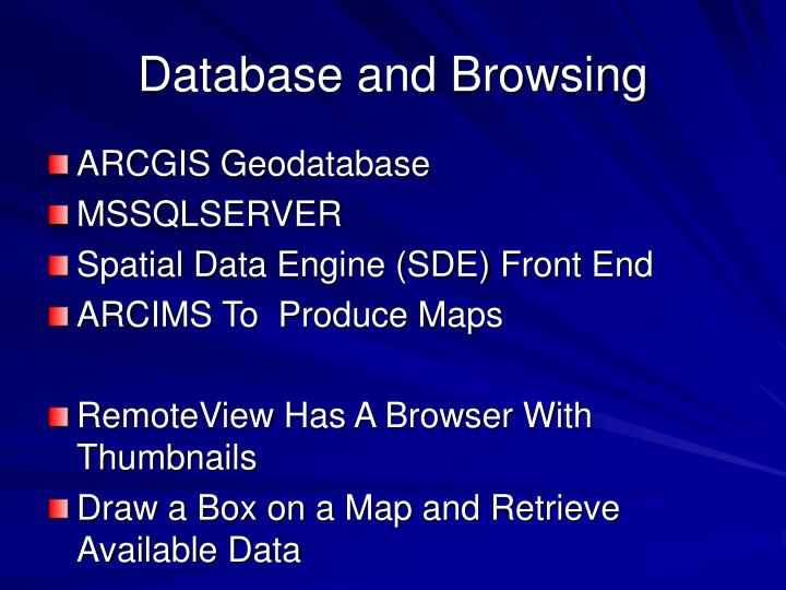 Database and Browsing
