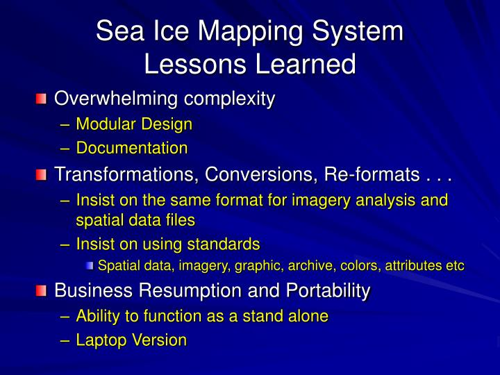 Sea Ice Mapping System