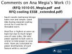 comments on ana megia s work 1 rfq 1010 05 megia pdf and rfq cooling essb extended pdf