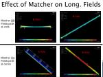effect of matcher on long fields