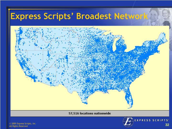 Express Scripts' Broadest Network