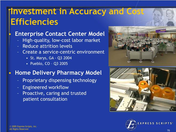 Investment in Accuracy and Cost Efficiencies