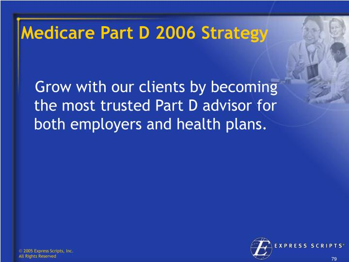 Medicare Part D 2006 Strategy