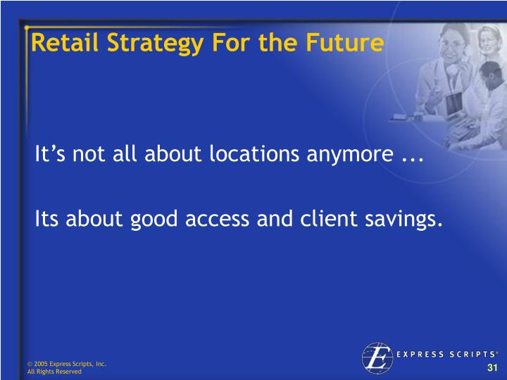 Retail Strategy For the Future