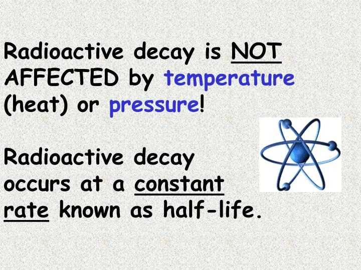Radioactive decay is