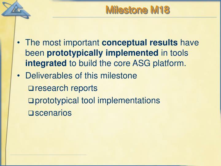 Milestone M18