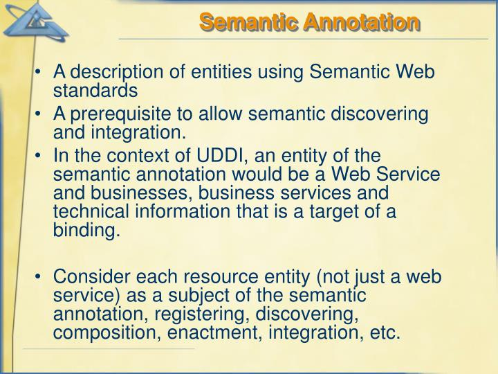 Semantic Annotation