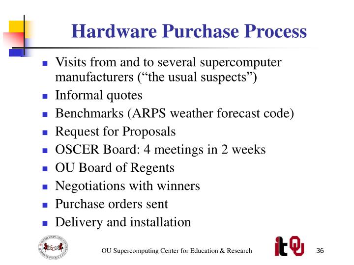 Hardware Purchase Process