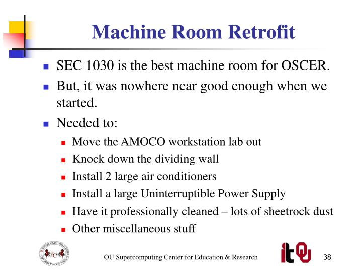 Machine Room Retrofit