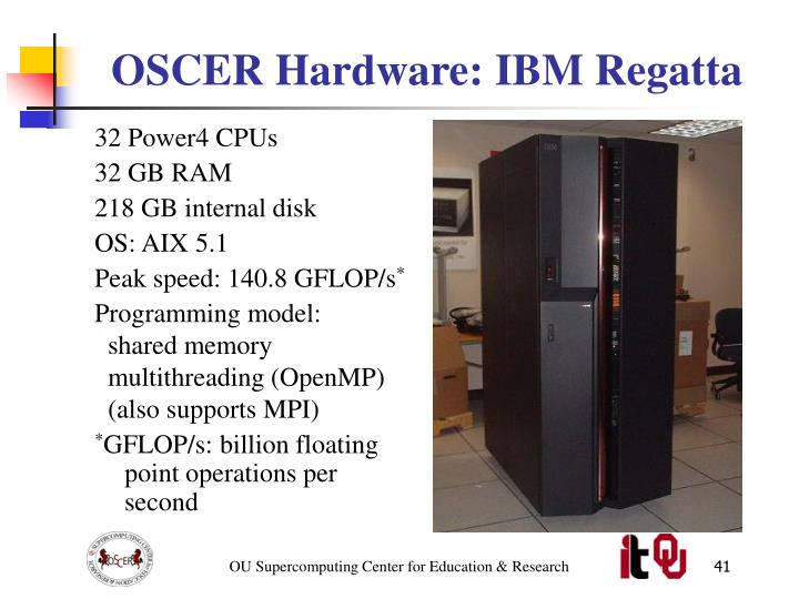 OSCER Hardware: IBM Regatta