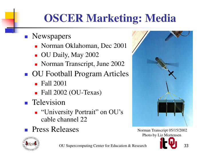 OSCER Marketing: Media