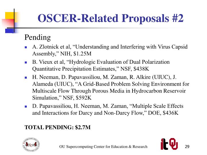 OSCER-Related Proposals #2