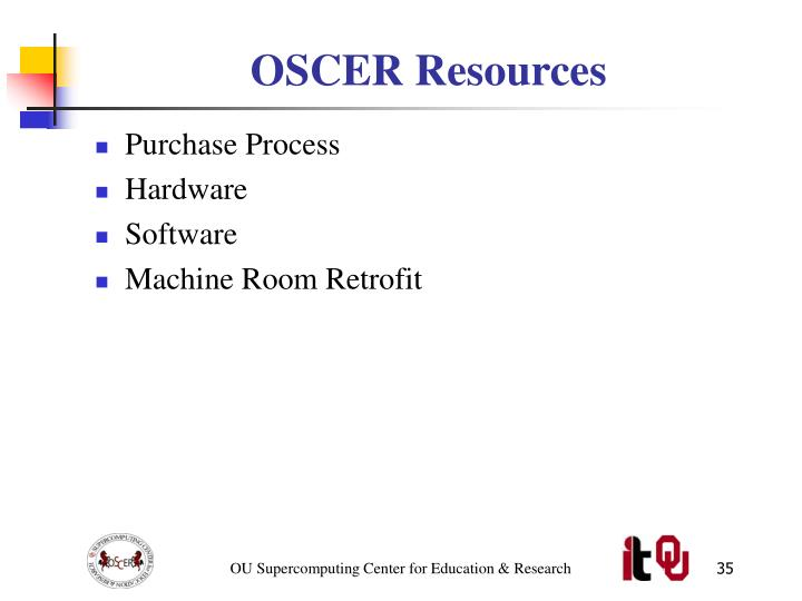 OSCER Resources