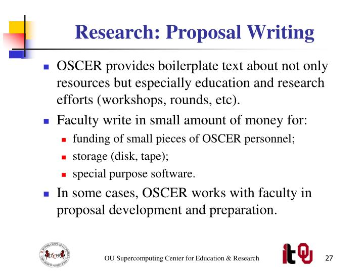 Research: Proposal Writing