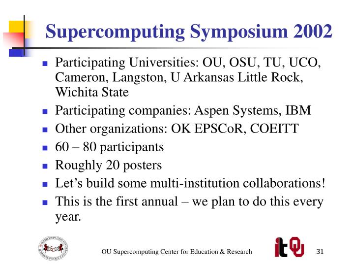 Supercomputing Symposium 2002