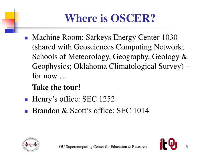 Where is OSCER?