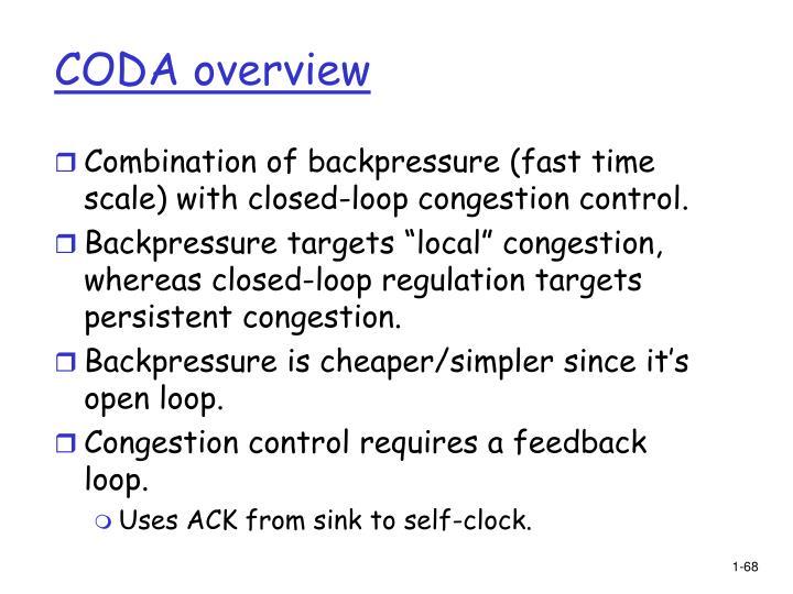 CODA overview