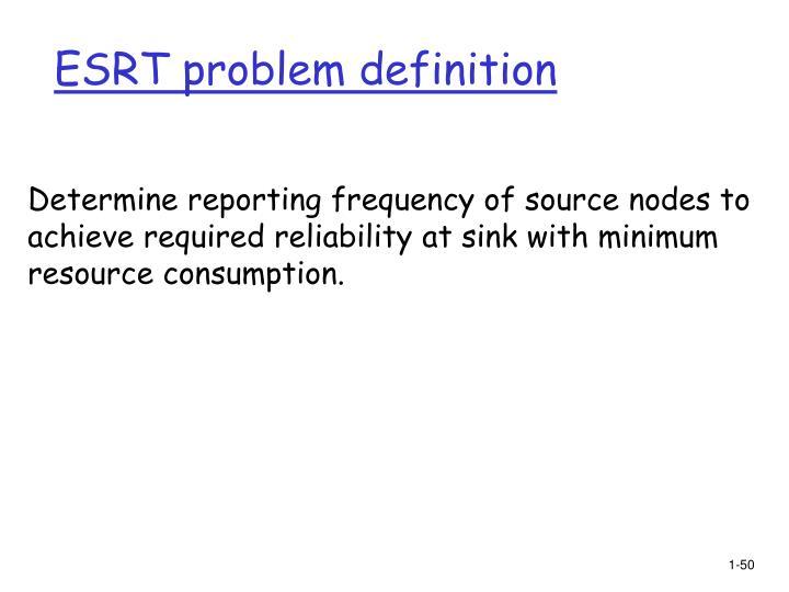 ESRT problem definition