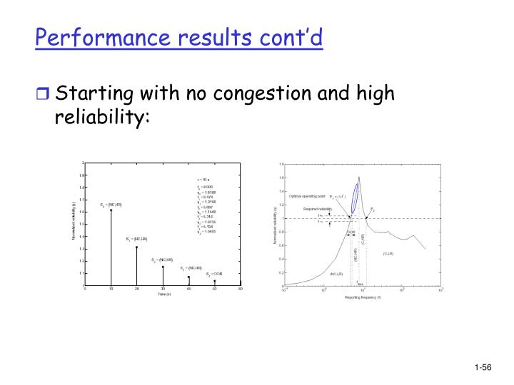 Performance results cont'd