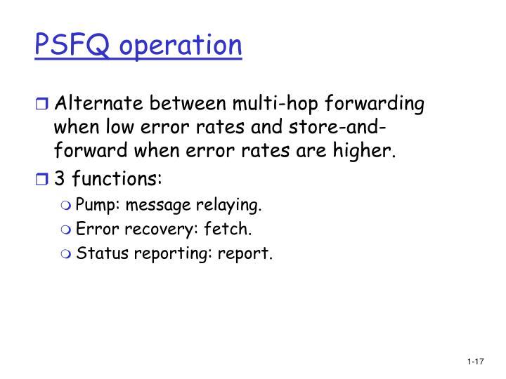 PSFQ operation