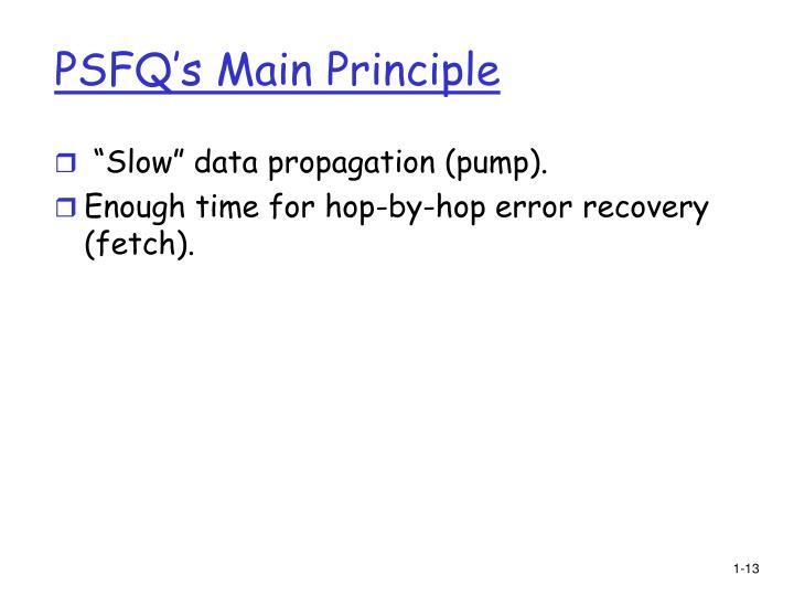 PSFQ's Main Principle