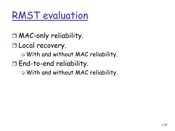 RMST evaluation