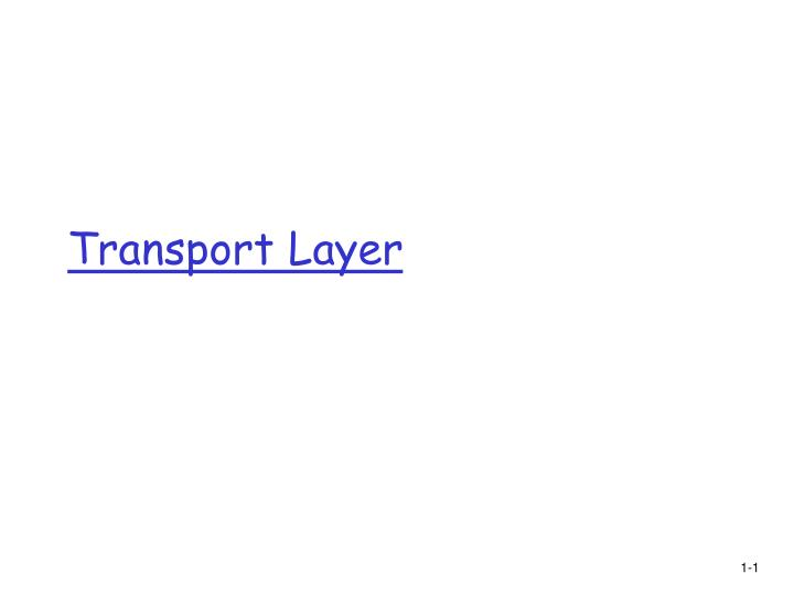 Transport Layer