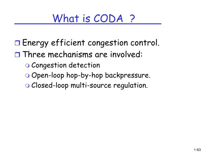 What is CODA  ?