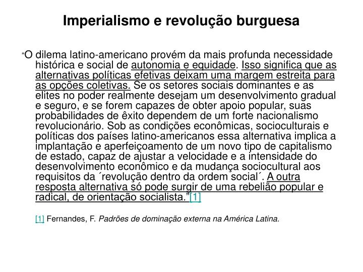 Imperialismo e revolução burguesa