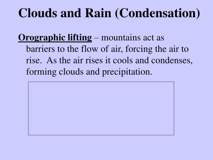 Clouds and Rain (Condensation)