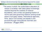 global environmental governance beyond the state