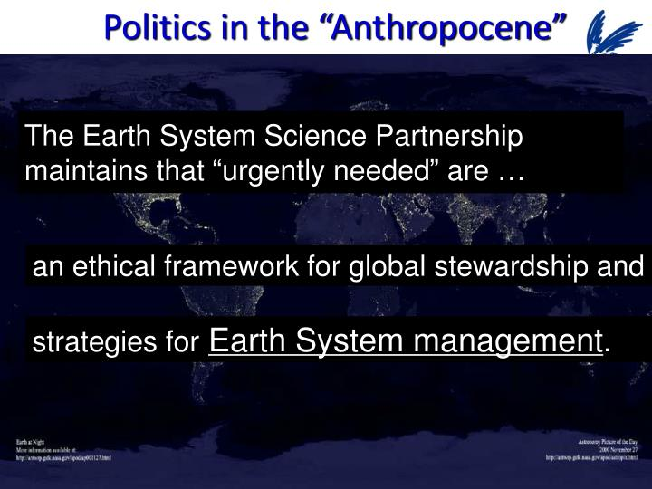 "Politics in the ""Anthropocene"""