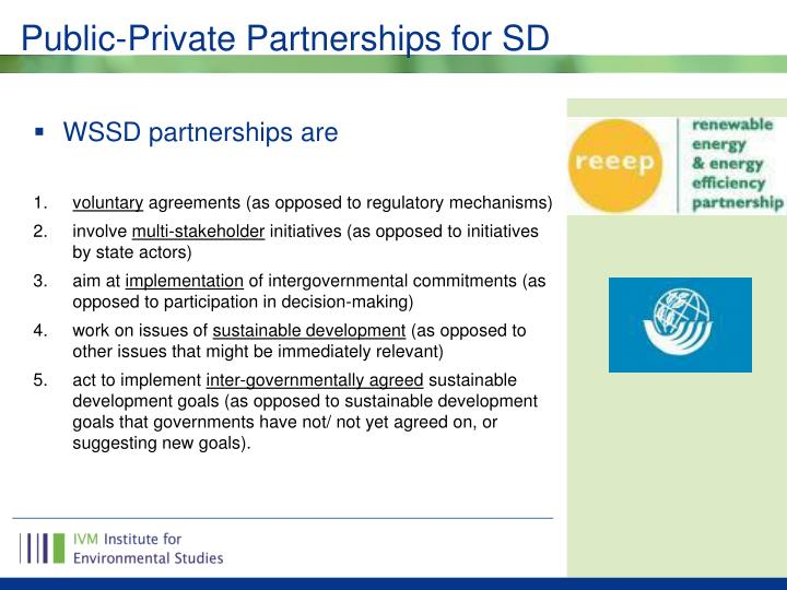 Public-Private Partnerships for SD