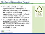 the forest stewardship council