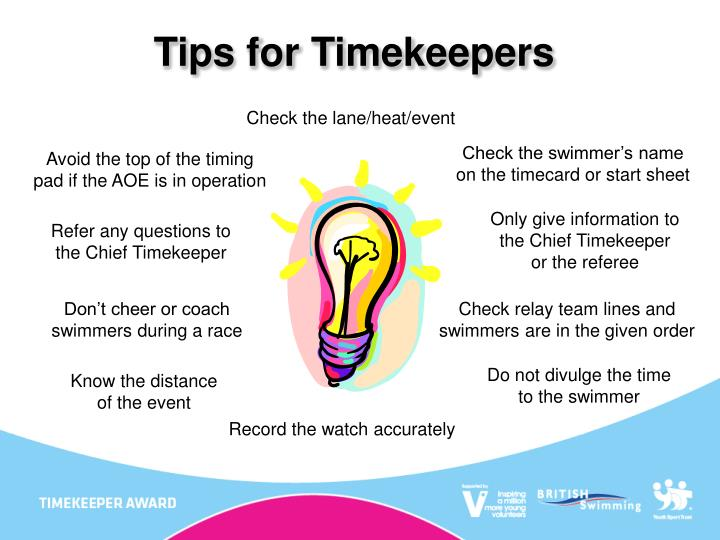 Tips for Timekeepers