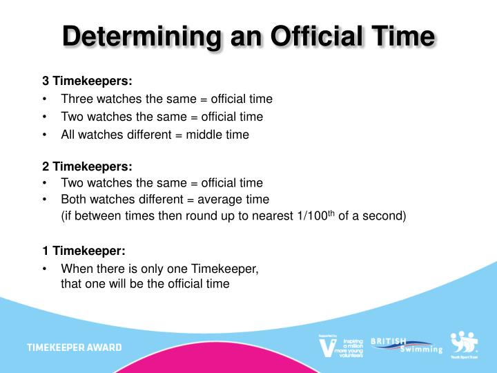 Determining an Official Time