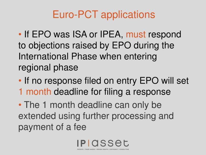 Euro-PCT applications
