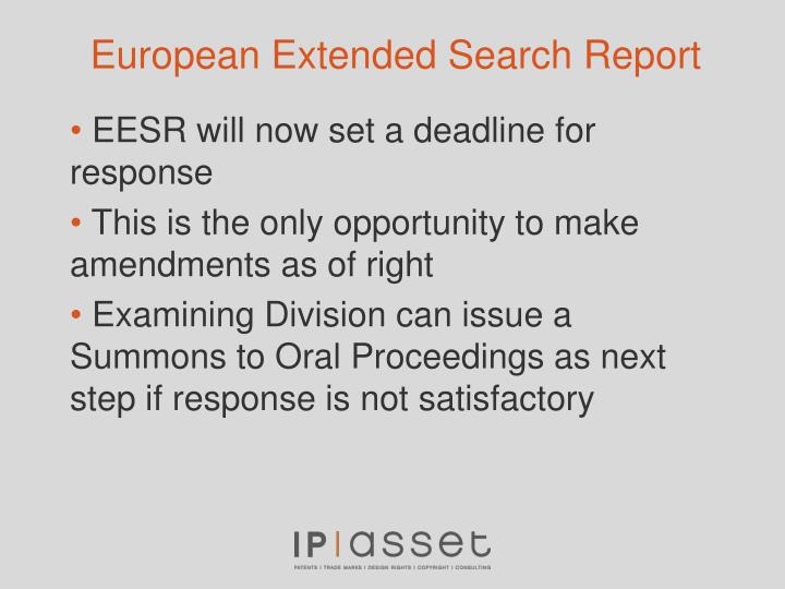 European Extended Search Report