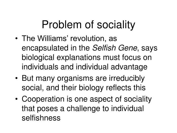Problem of sociality