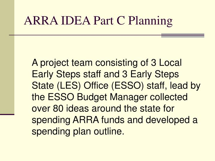 ARRA IDEA Part C Planning