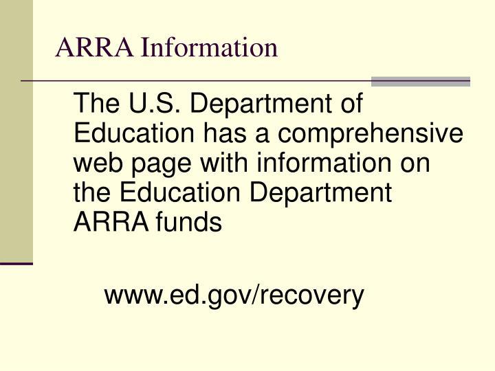 ARRA Information