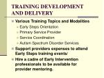 training development and delivery