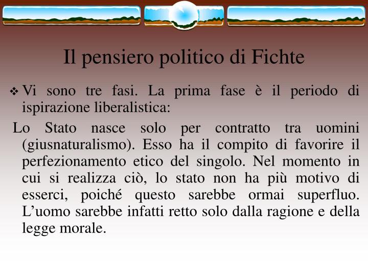 Il pensiero politico di Fichte