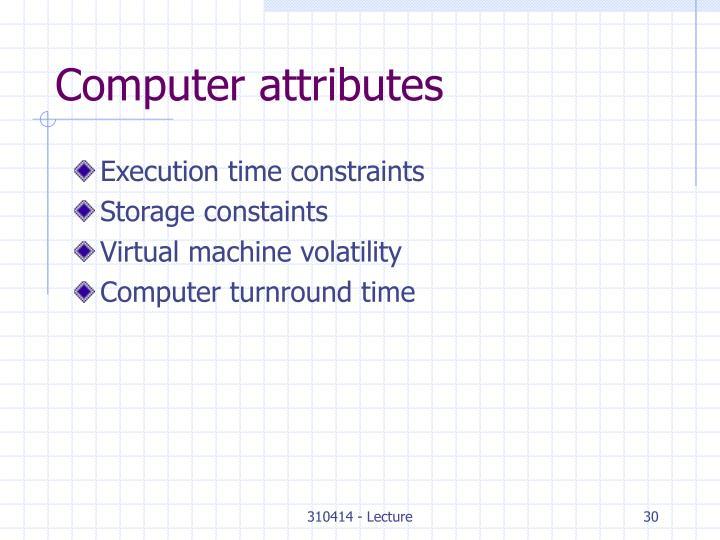 Computer attributes