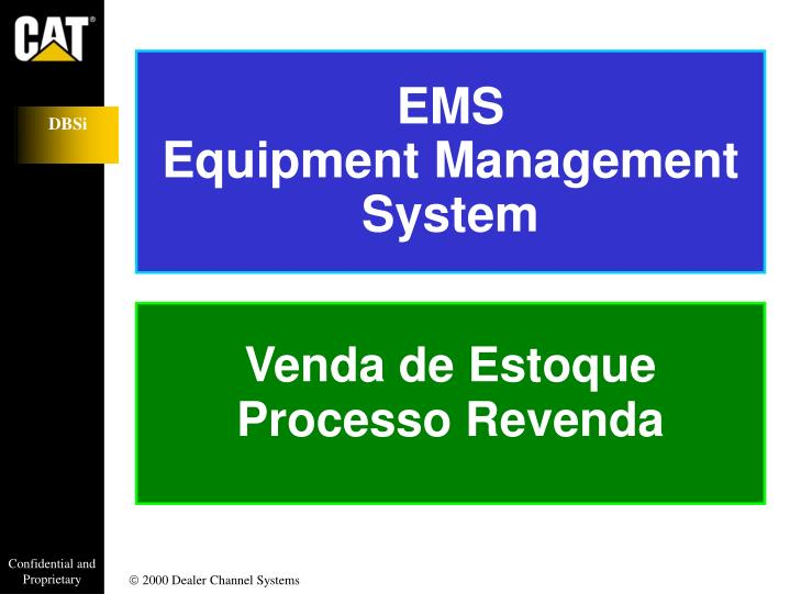 Ems equipment management system