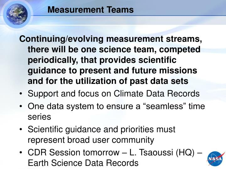 Measurement Teams