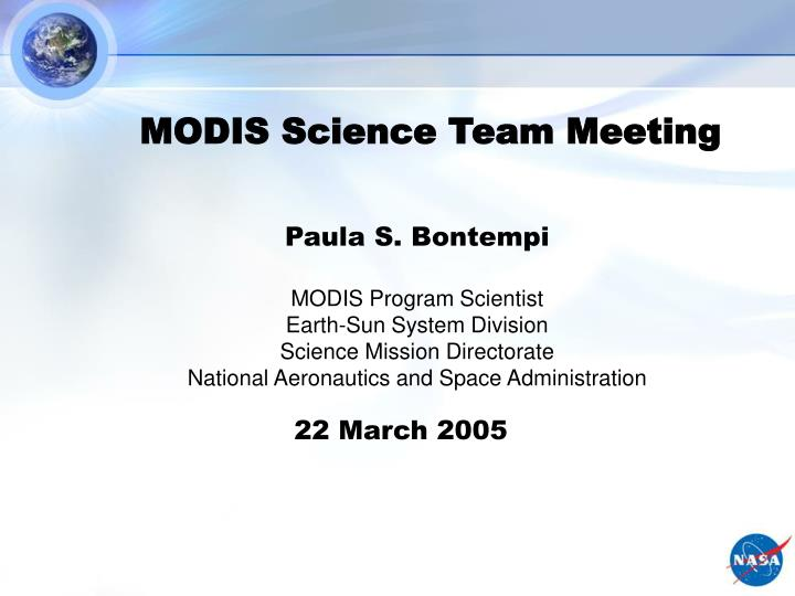 Modis science team meeting