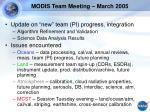 modis team meeting march 2005