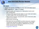 new eos data review needed