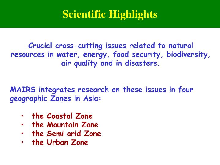 Scientific Highlights